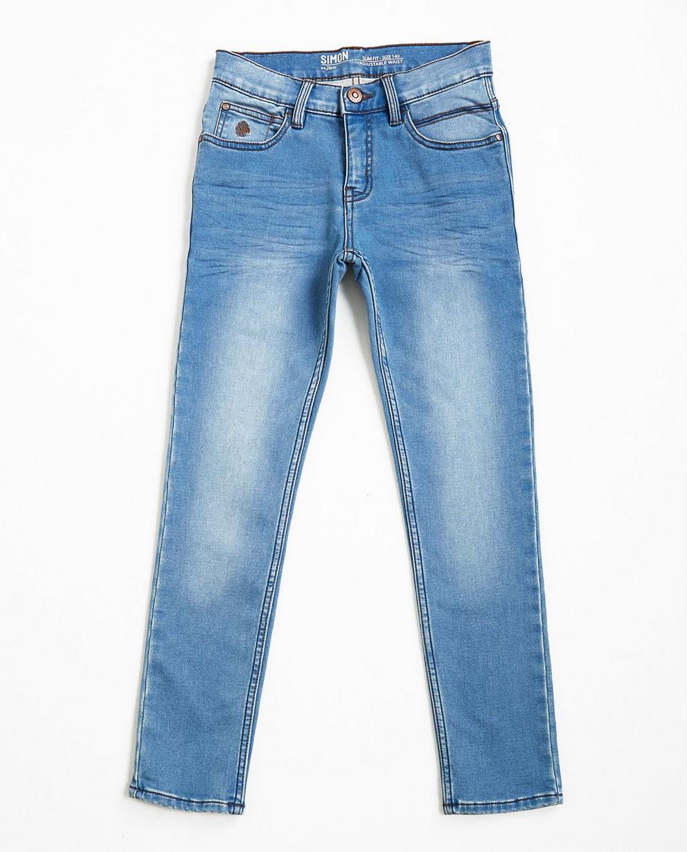 Lichtblauwe slim jeans - sweat denim - JBC
